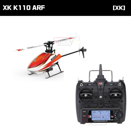 [XK] K110 6CH FLYBARLESS HELICOPTER (ARF) [K110] (* 전파인증 완료*)