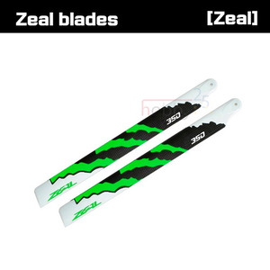 ZEAL Energy Carbon Fiber Main Blades 350mm (YELL) [ZHM- Y350C]