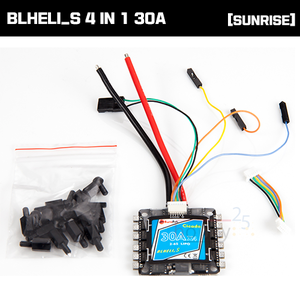 [SUNRISE Model] CICADA BLHELI_S 4 IN 1 30A ESC [D-SHOT 600지원]