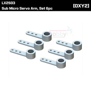 LX2503 - Sub Micro Servo Arm, Set 6pc