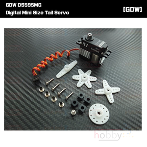 [GDW] DS595MG Digital Mini Size Tail Servo (Black)  Narrow Band 760us - 프리미엄 미니사이즈 테일서보